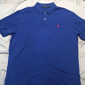 Ralph Lauren Polo collared shirt (Blue)